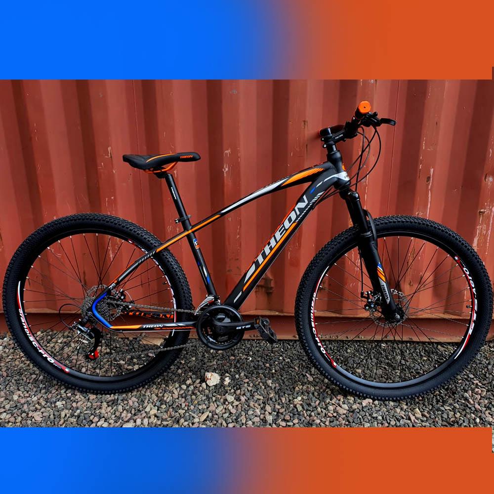 Bicicleta 29 Theon 24 Velocidades Freios a Disco Preto/Cinza e Laranja 17