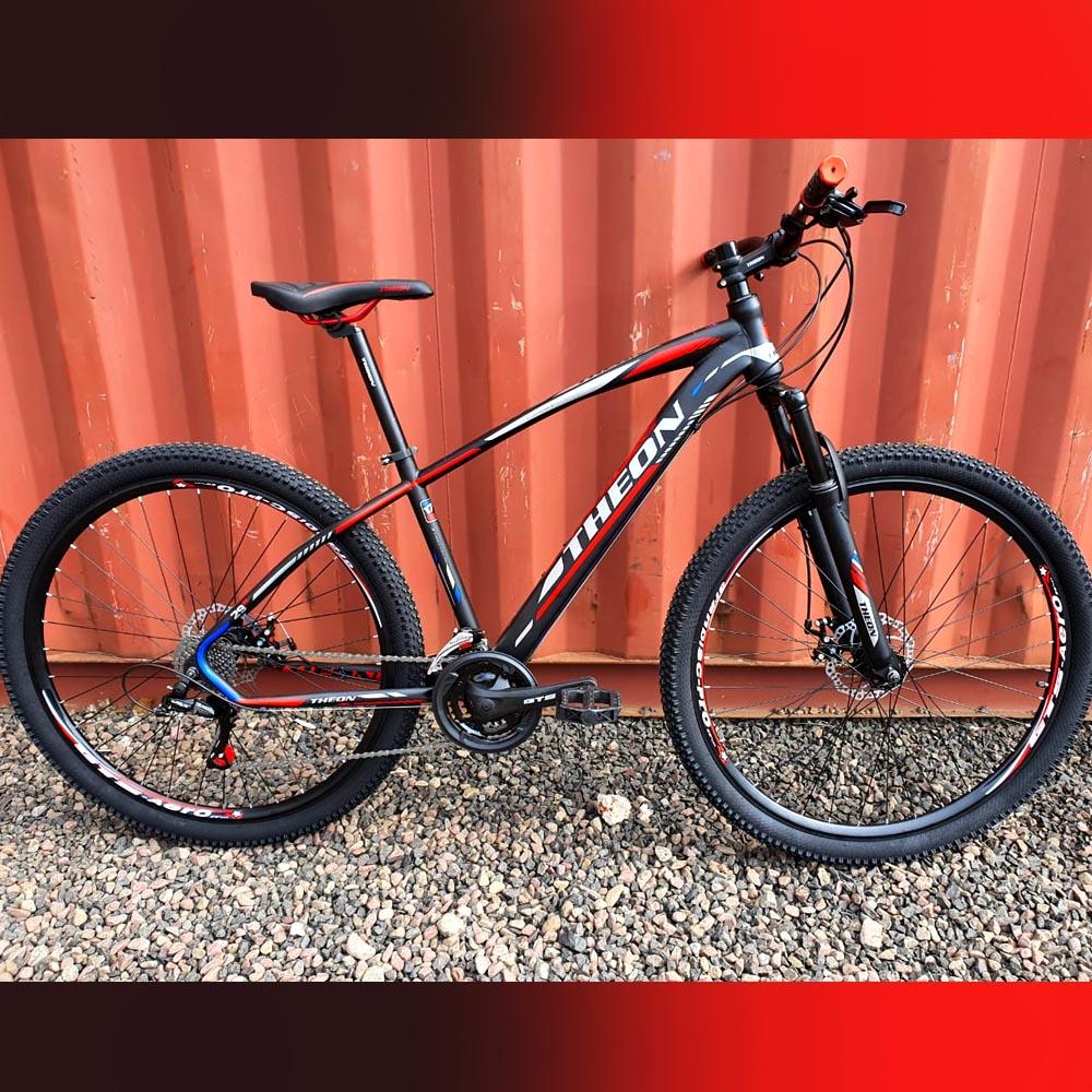 Bicicleta 29 Theon 24 Velocidades Freios a Disco Preto/Cinza e Vermelho 17