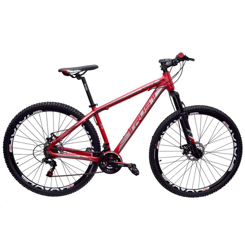 Bicicleta 29 Trust Bruce 21v Shimano Tamanho 17 Vermelha