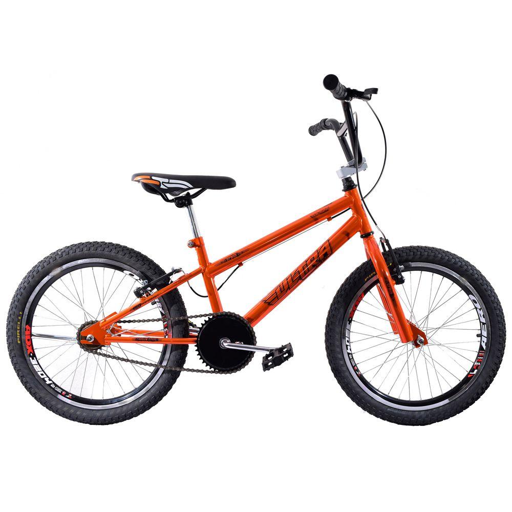 Bicicleta Aro 20 Garra Cross BMX Laranja Cromado