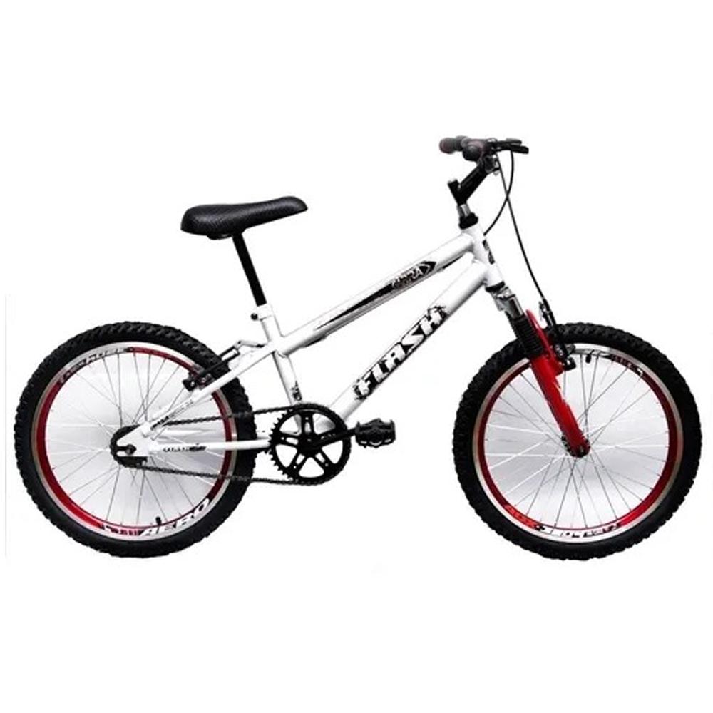 Bicicleta Aro 20 Garra Cross BMX Suspensão Branca