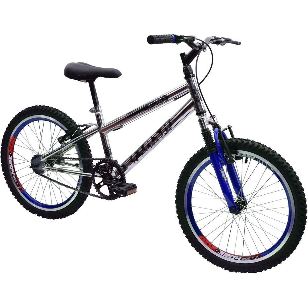 Bicicleta Aro 20 Garra Cross BMX Suspensão Cromada