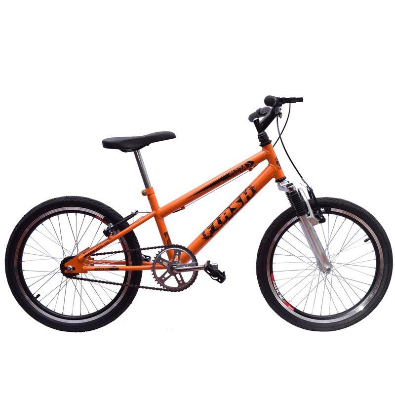Bicicleta Aro 20 Garra Cross BMX Suspensão Laranja