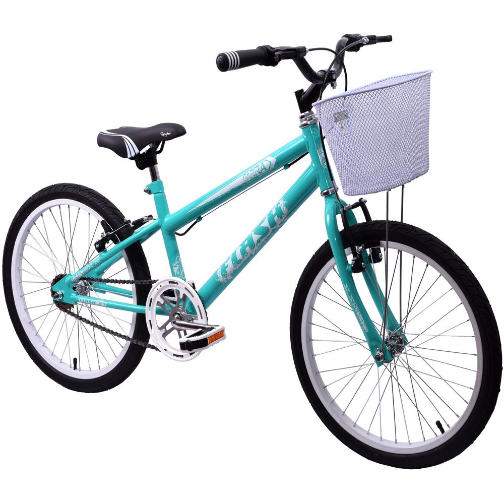 Bicicleta aro 20 Garra Flash Feminina Verde Anis Com Cesta
