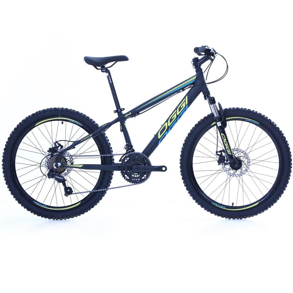 Bicicleta Aro 24 Oggi Hacker 21 Velocidades Tourney Preto/Amarela