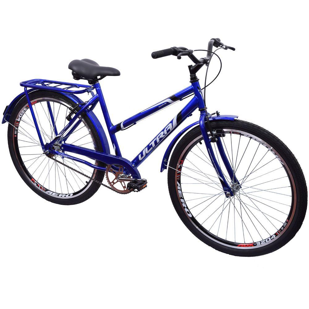 Bicicleta Aro 26 Urbana Poty Wave Azul
