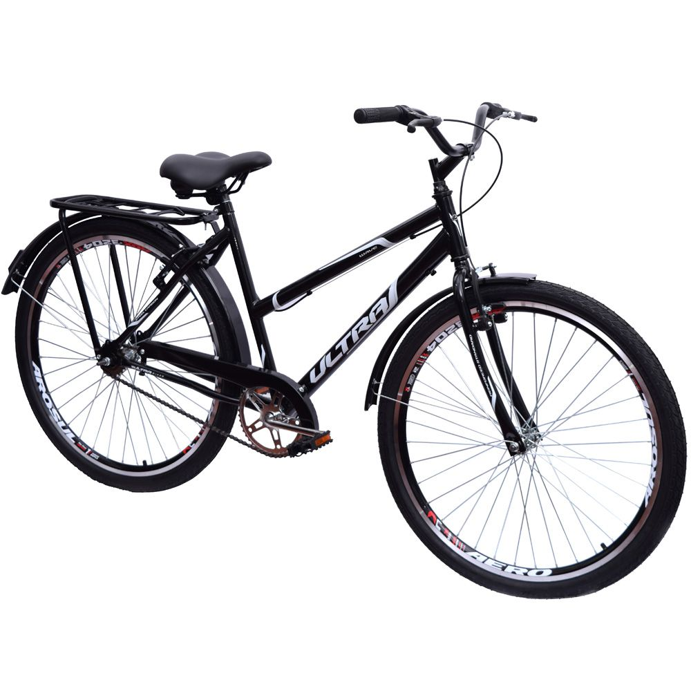 Bicicleta Aro 26 Urbana Poty Wave Preto