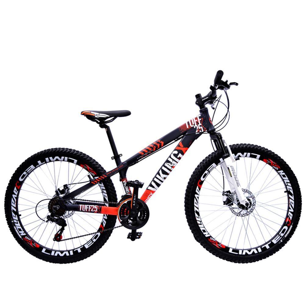 Bicicleta aro 26 Viking Tuff Alumínio 21 Marchas Freio Disco Roxo