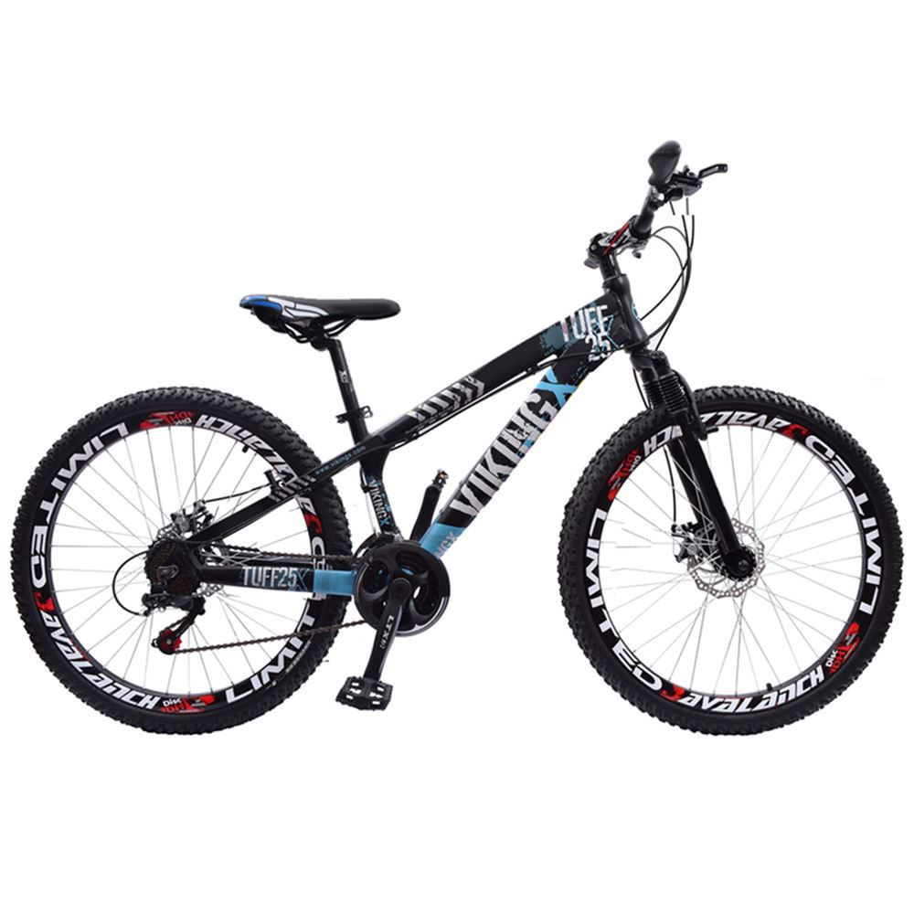 Bicicleta Aro 26 Vikingx Tuff 21 Marchas Preto e Azul
