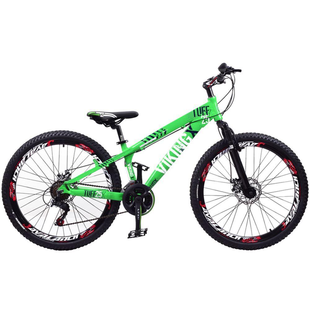 Bicicleta Aro 26 Vikingx Tuff 21 Velocidades Verde Neon