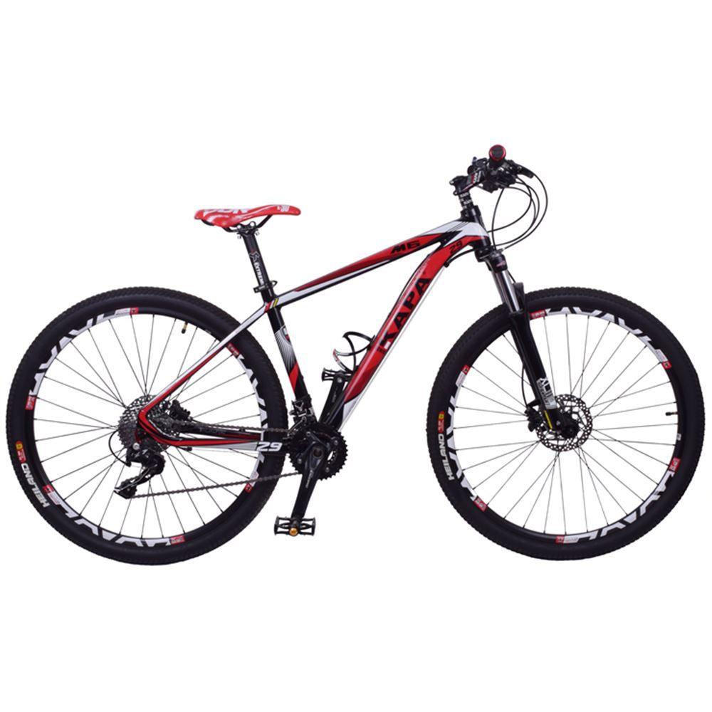 Bicicleta Aro 29 Kapa M6 Kit Microshift 20V Preta E Vermelha