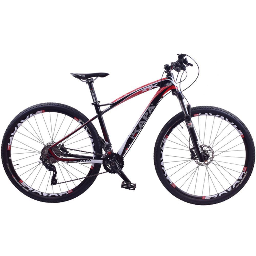 Bicicleta Aro 29 Kapa X7 Shimano Deore 20V Preta e Vermelho
