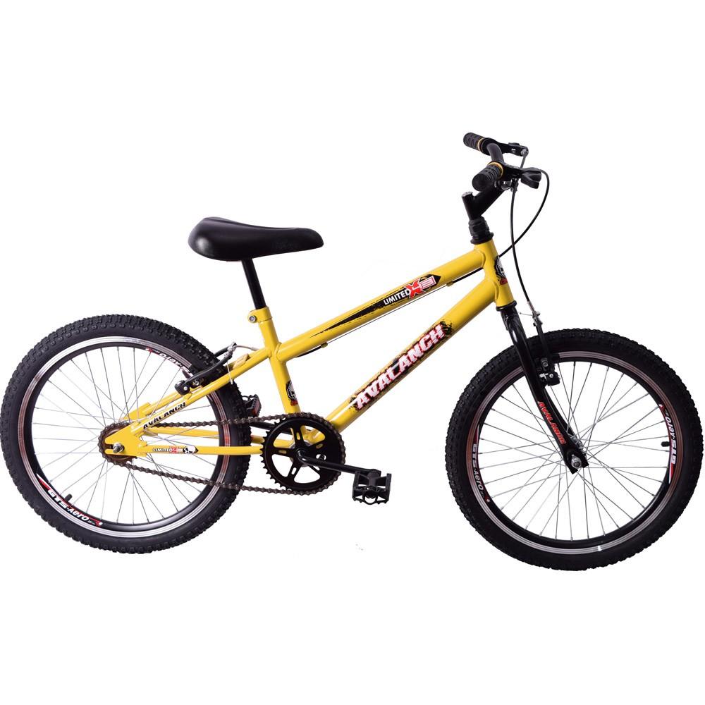 Bicicleta Cross BMX Aro 20 Avalanch Limited Amarelo e Preto