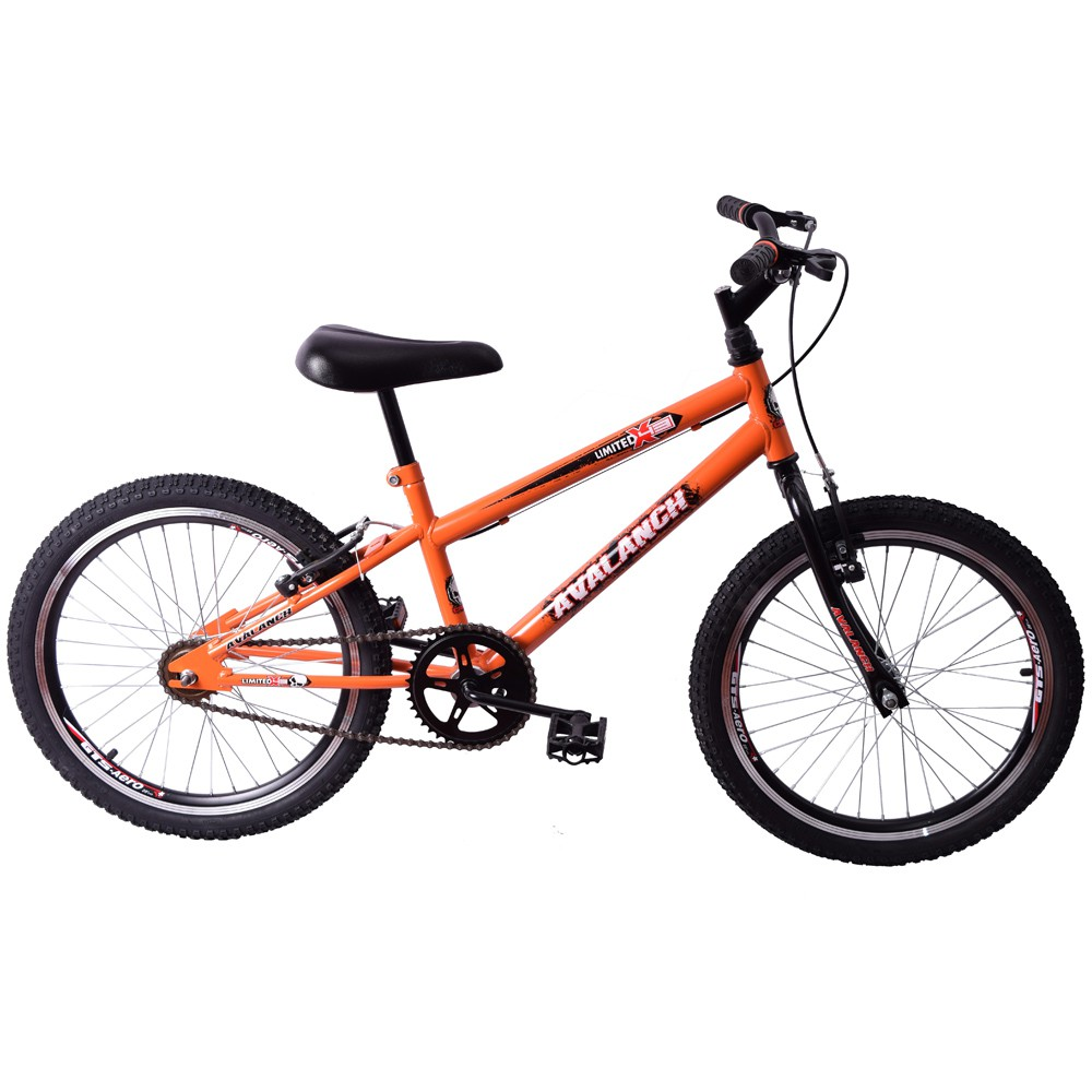 Bicicleta Cross BMX Aro 20 Avalanch Limited Laranja e Preto