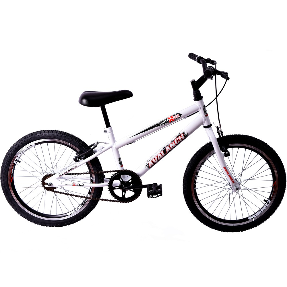 Bicicleta Cross BMX Aro 20 Avalanch Limited X-43 Branco
