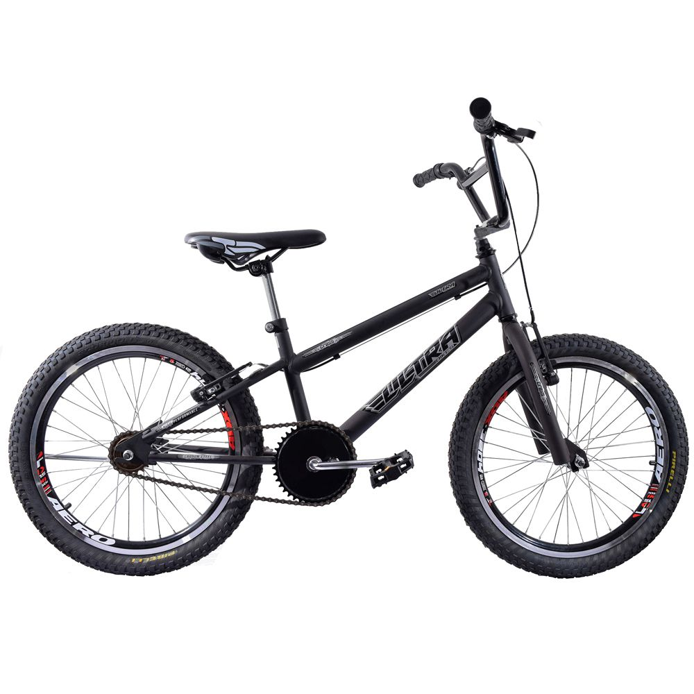 Bicicleta Cross BMX Aro 20 Ultra V Break Preto Fosco