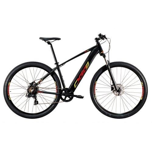 Bicicleta Eletrica Oggi Big Wheel 8.0 Preto Vermelho e Amarelo T-19