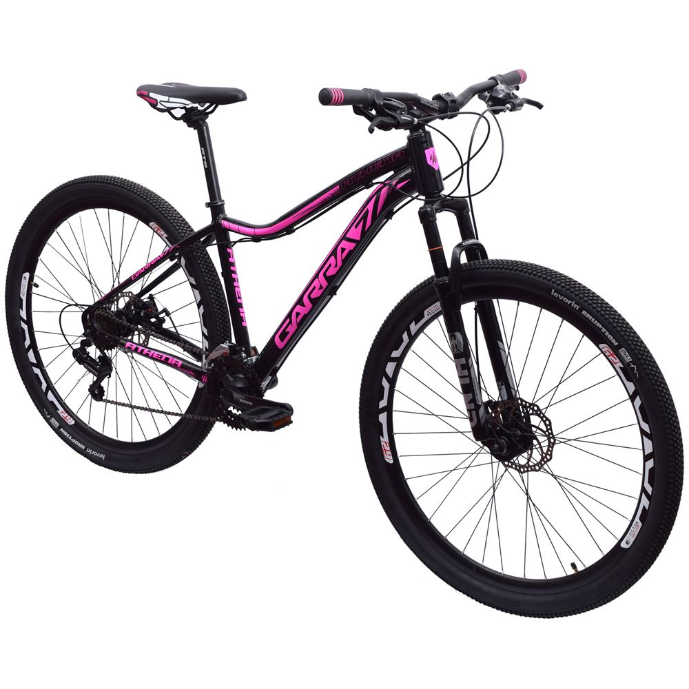 Bicicleta Feminina 29 Garra7 Athena Shimano 21v Tamanho 15 Preto