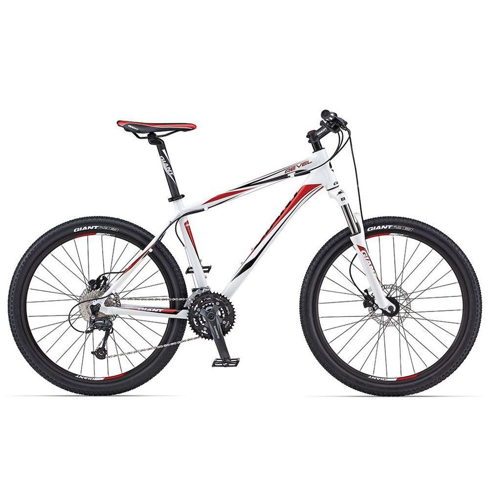 Bicicleta Giant Aro 26 Revel 0 Tamanho 18 Branca e Vermelho