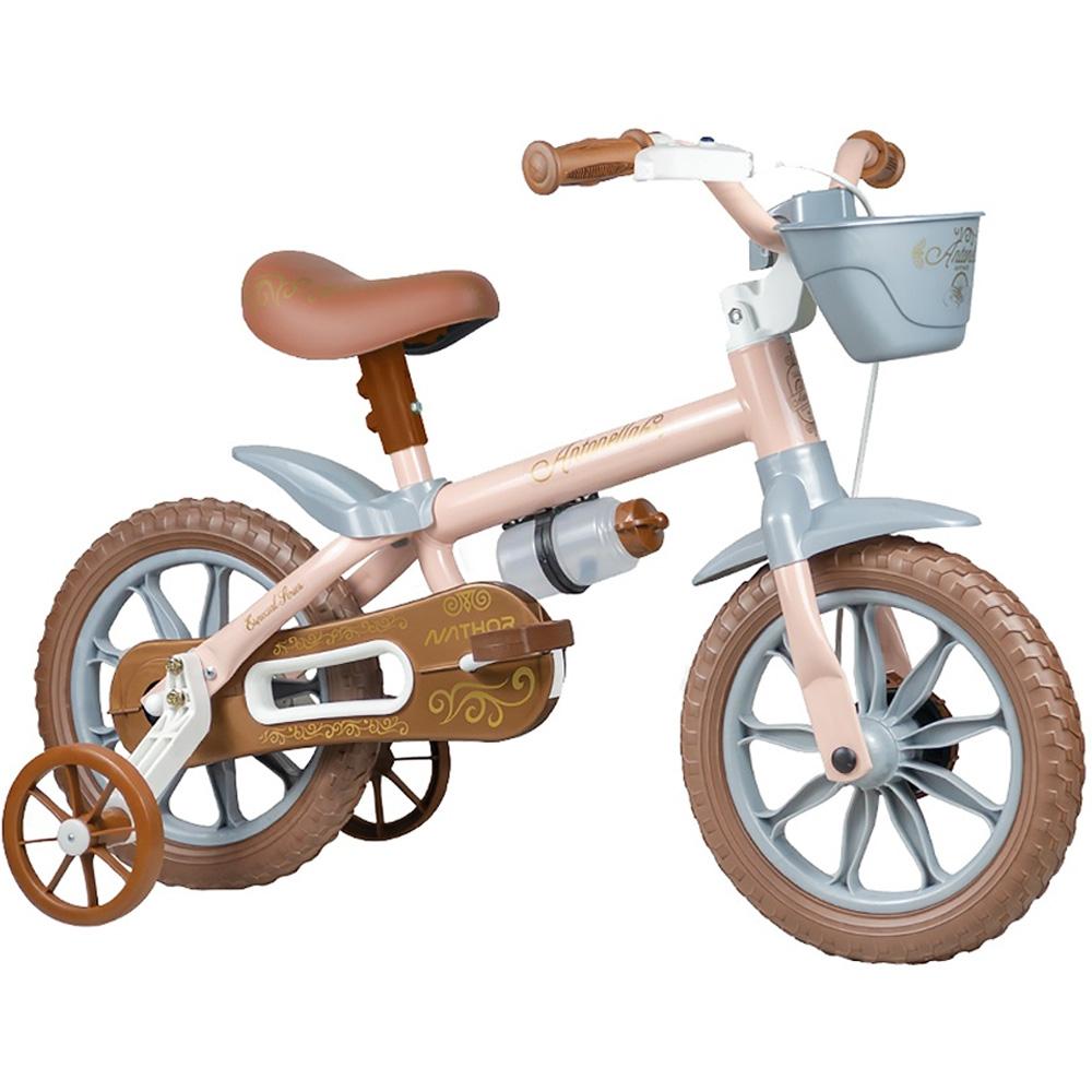 Bicicleta Infantil Aro 12 Nathor Antonella Baby Rosa