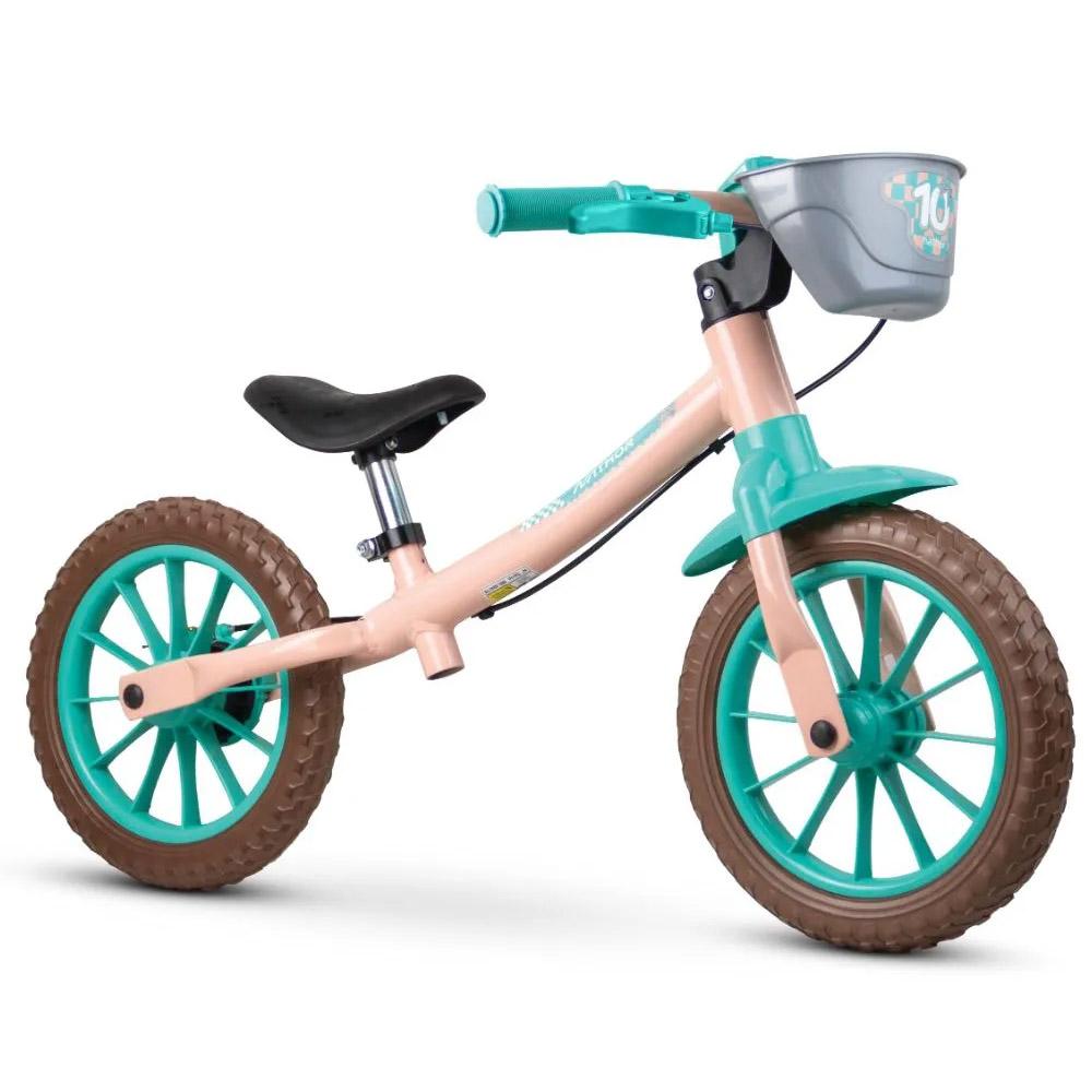 Bicicleta Infantil Aro 12 Sem Pedal Nathor Balance Love Rosa