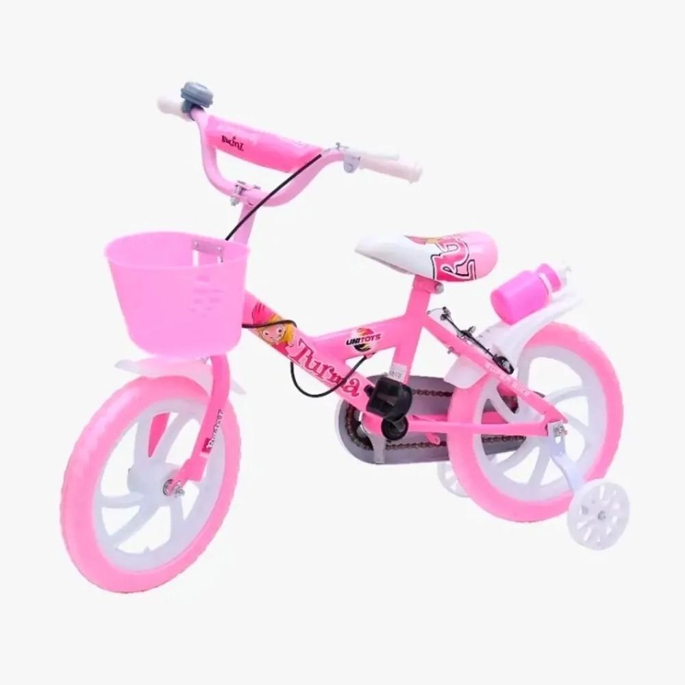 Bicicleta Infantil Aro 14 Unitoys Bike Da Turma Rosa
