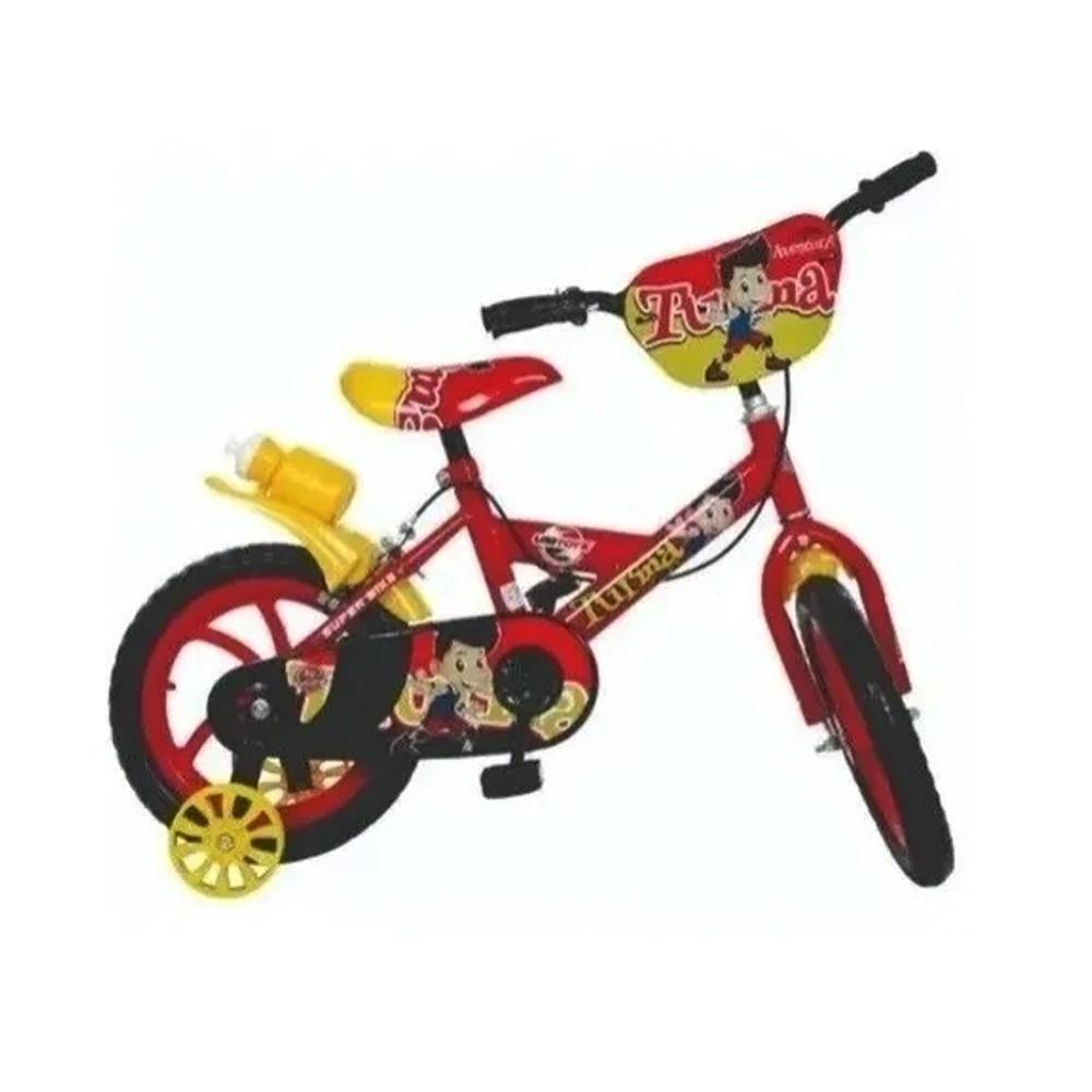 Bicicleta Infantil Aro 14 Unitoys Bike Da Turma Vermelha