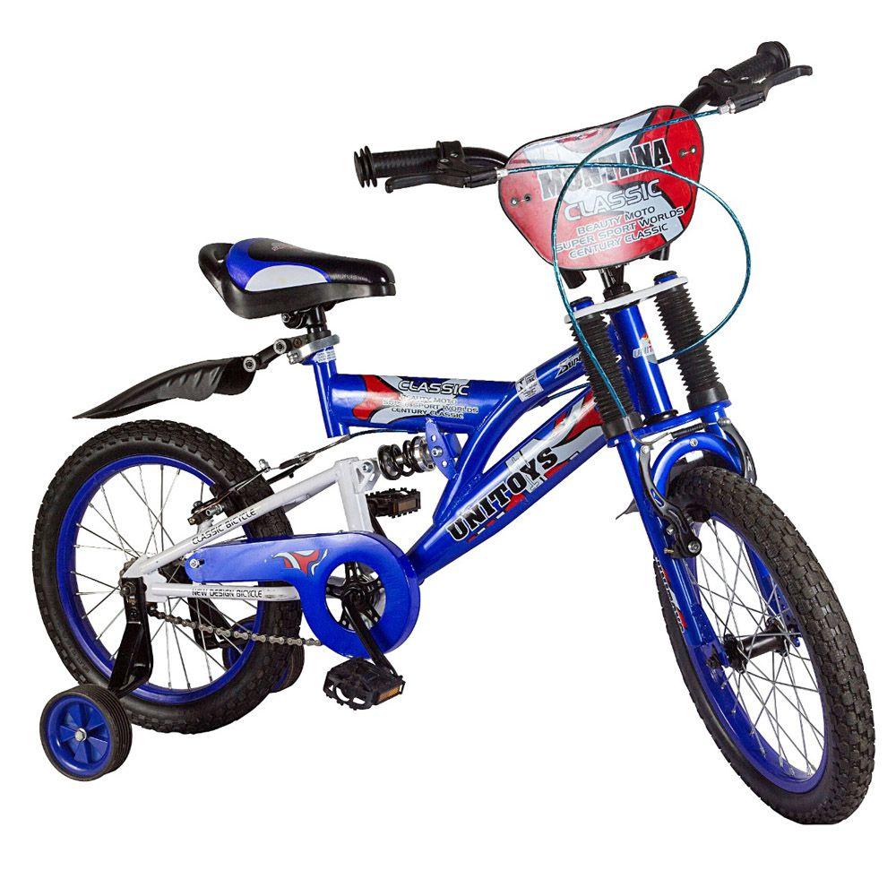 Bicicleta Infantil Aro 16 Unitoys Montana Azul