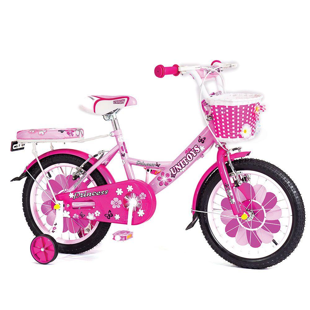 Bicicleta Infantil Aro 16 Unitoys Princess Rosa