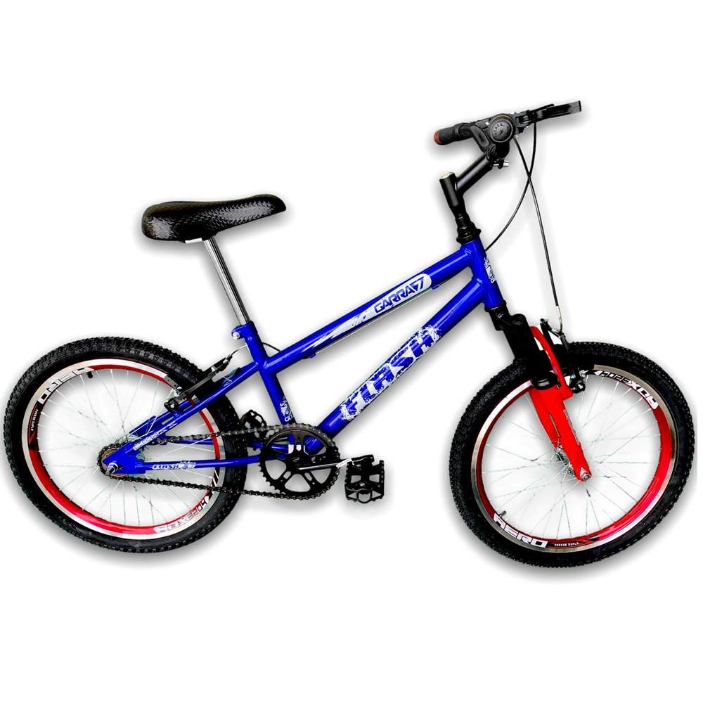 Bicicleta Infantil Aro 20 Garra Flash Azul Suspensão