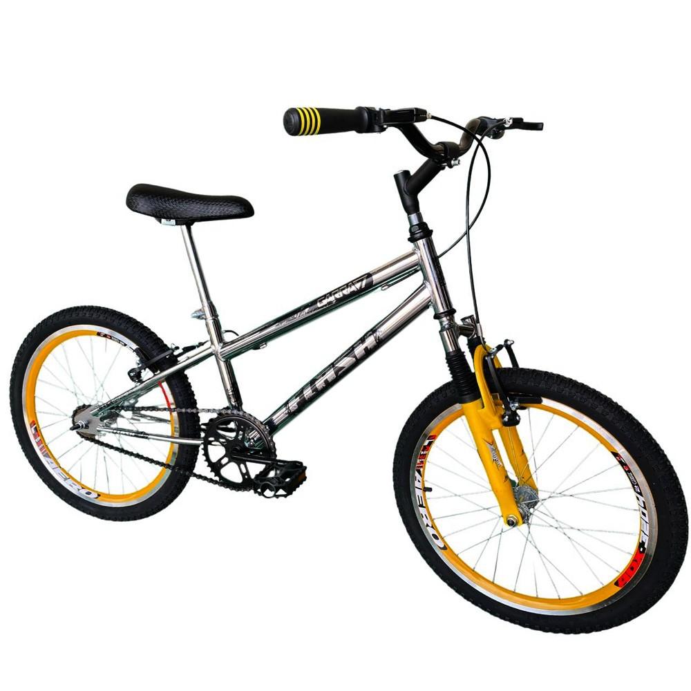 Bicicleta Infantil Aro 20 Garra Flash Cromada Suspensão