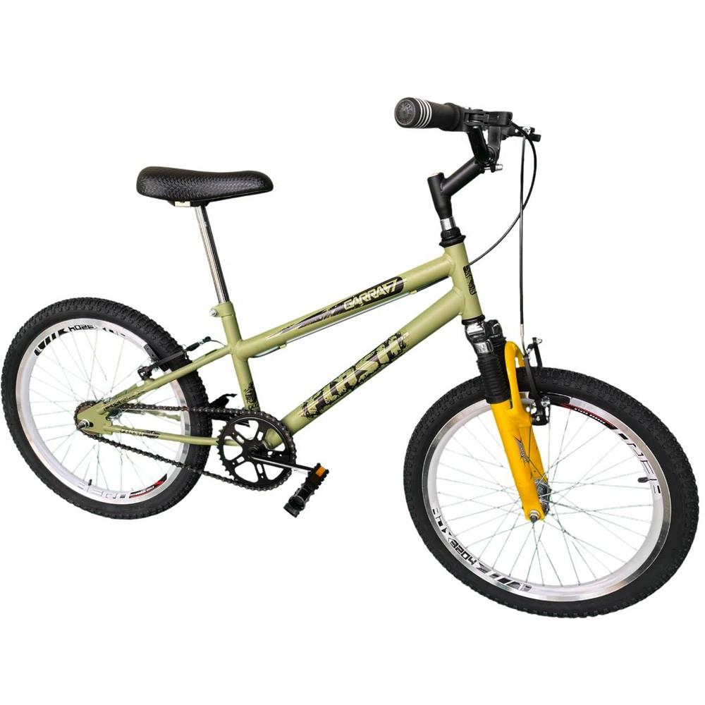 Bicicleta Infantil Aro 20 Garra Flash Verde Militar Suspensão
