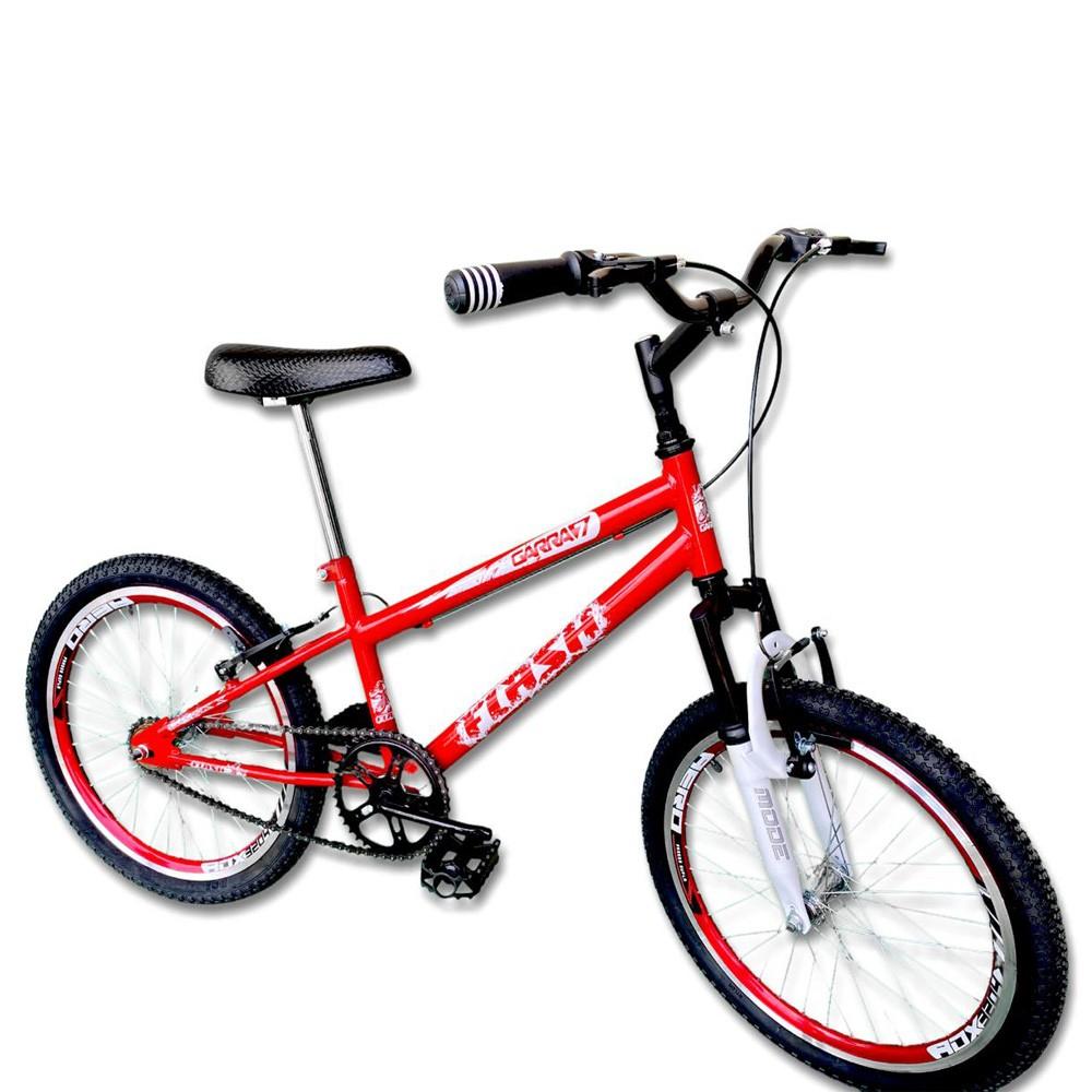 Bicicleta Infantil Aro 20 Garra Flash Vermelha Suspensão