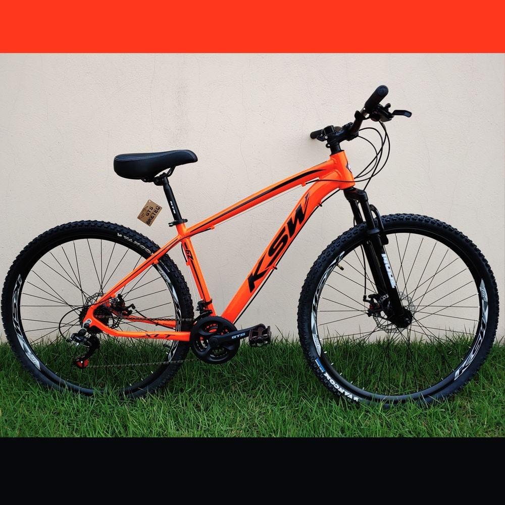 Bicicleta KSW Aro 29 Câmbios Shimano 21 Marchas Freio A Disco