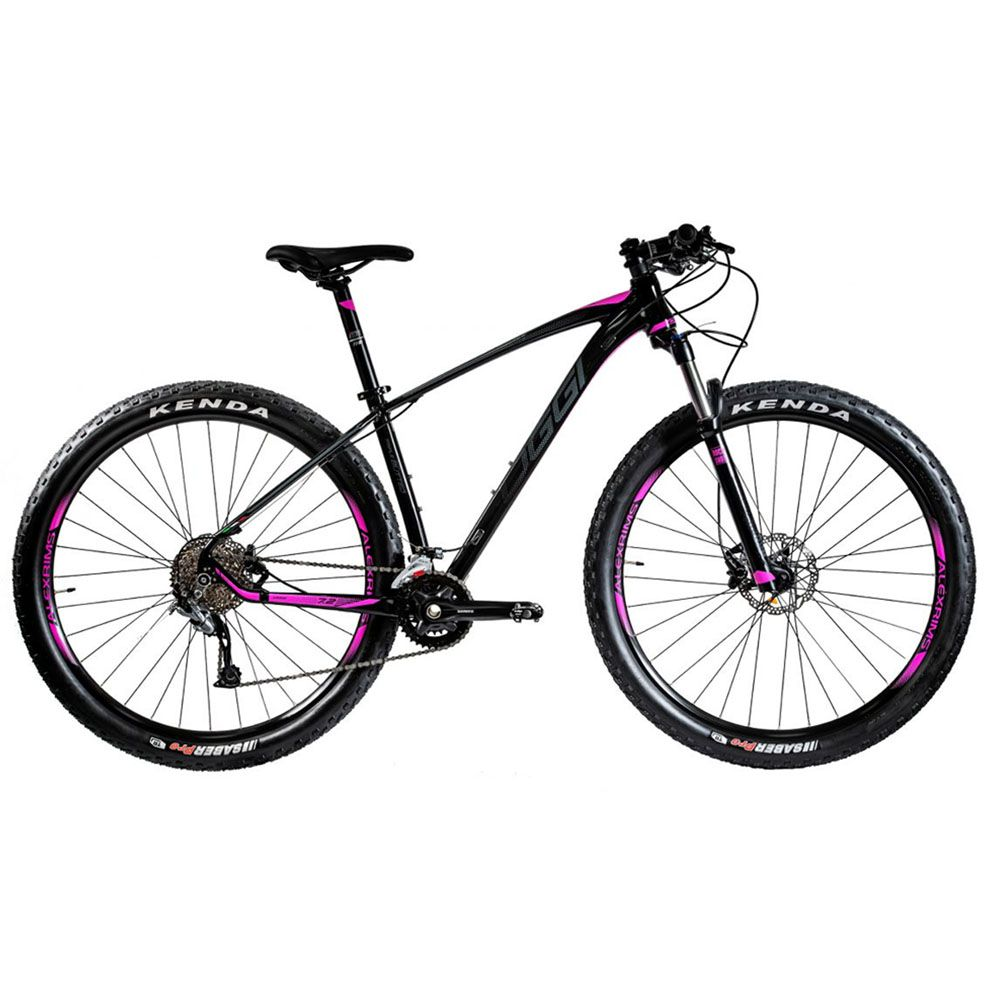 Bicicleta Oggi 7.2 2020 Preto Fosco e Pink