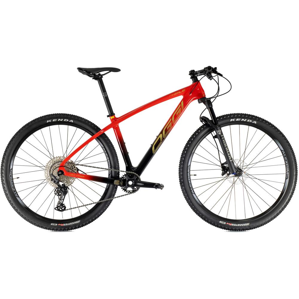 Bicicleta Oggi Agile Sport Deore 12V 2021 Carbon Preto e Vermelho 17