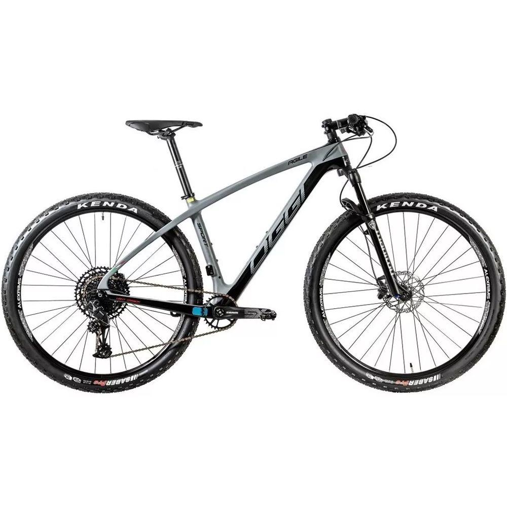 Bicicleta Oggi Agile Sport SX 12v 2020 Grafite e Preto Tamanho 17