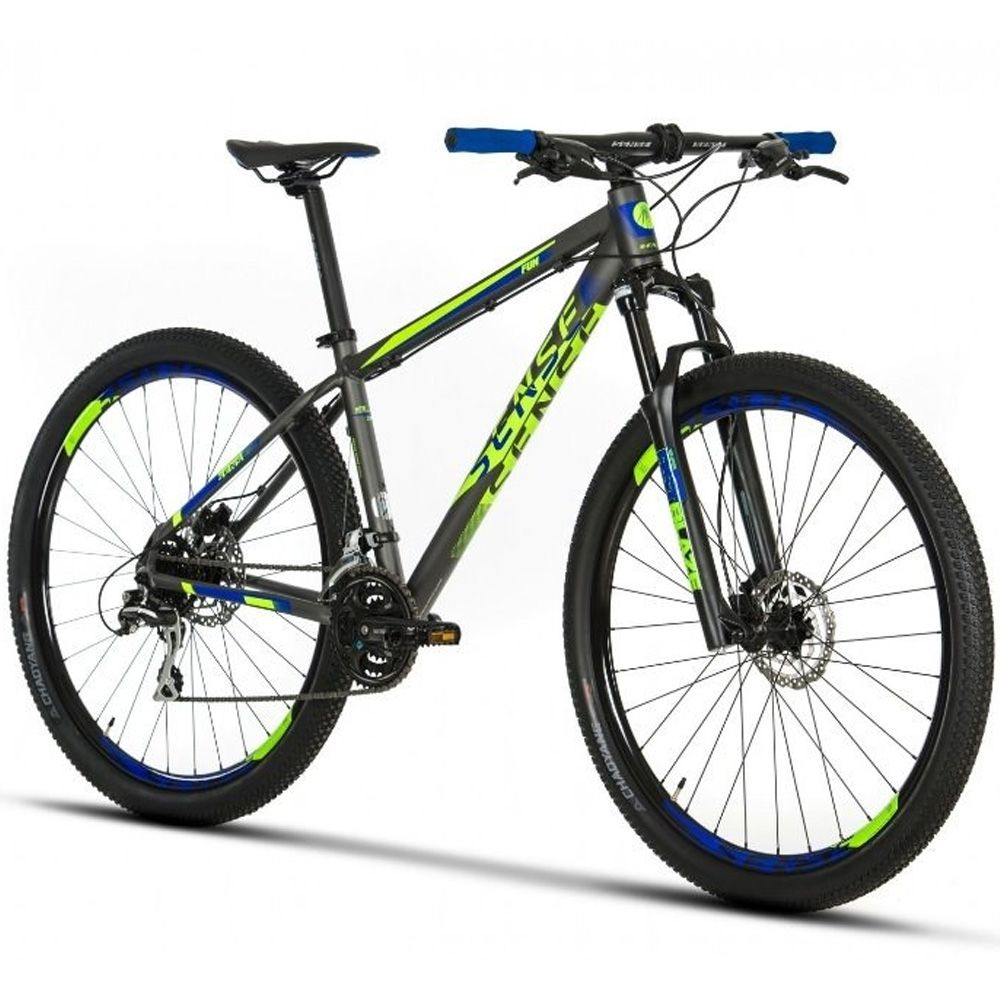 Bicicleta Sense FUN Shimano Acera Tamanho 17 Verde e Azul