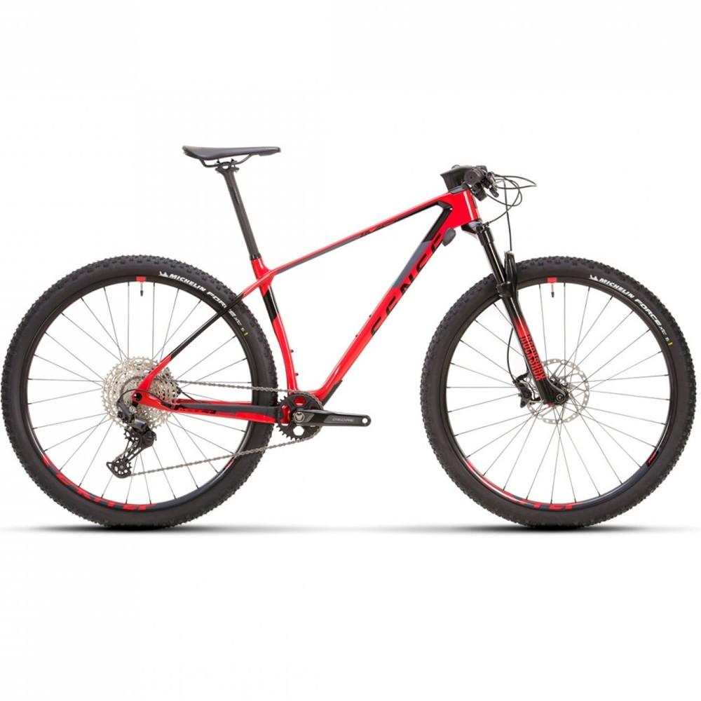 Bicicleta Sense Impact Carbon Pro 2021 Shimano Deore 12v Vermelho e Cinza