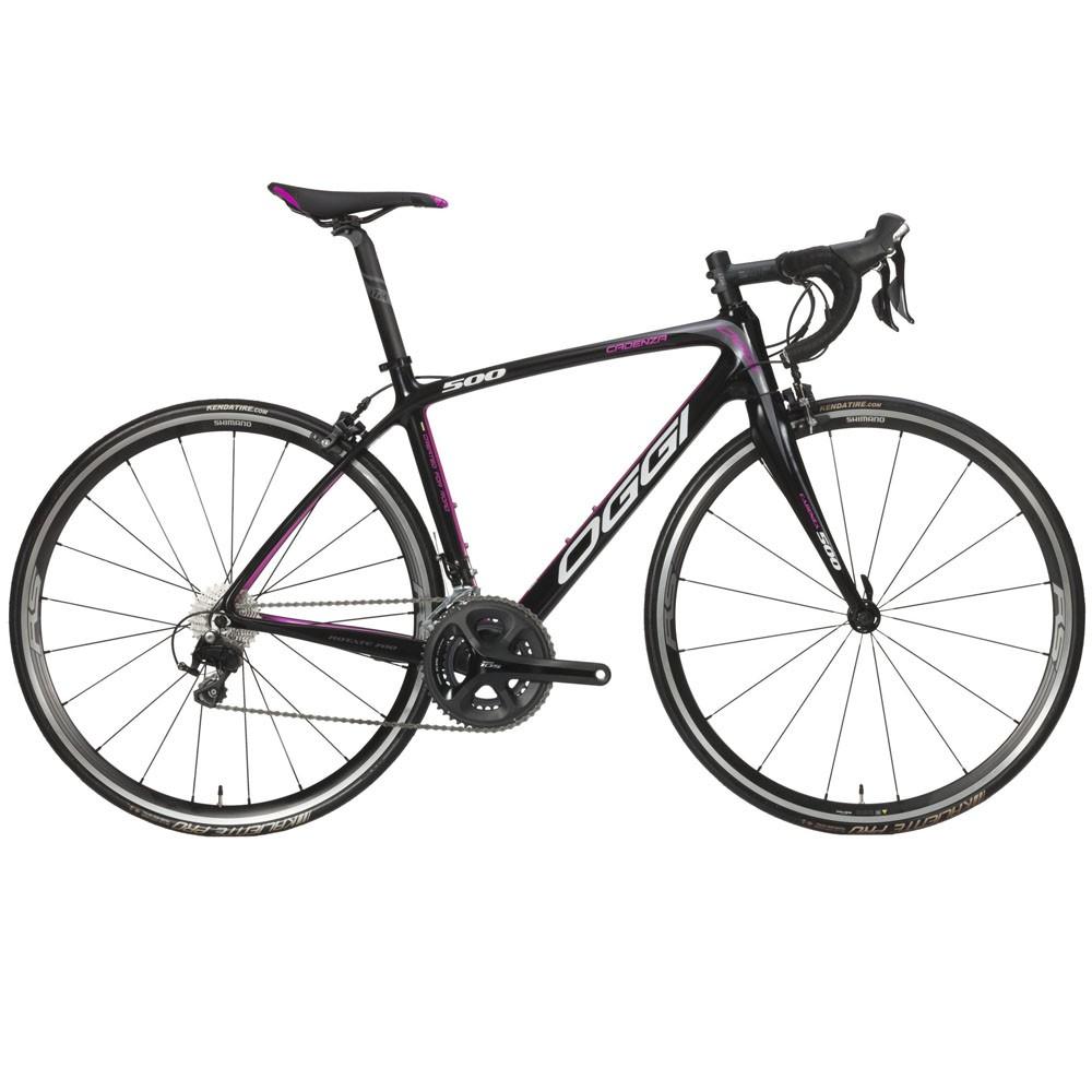 Bicicleta Speed Oggi Cadenza 500 Preto e Pink Shimano 105