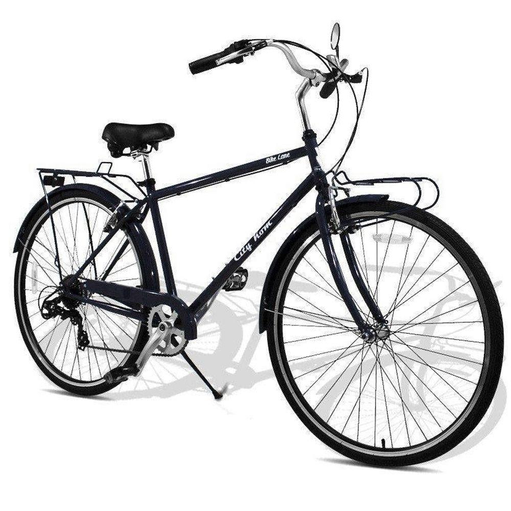 Bicicleta Urbana 700 c Shimano 7 Velocidades Cinza