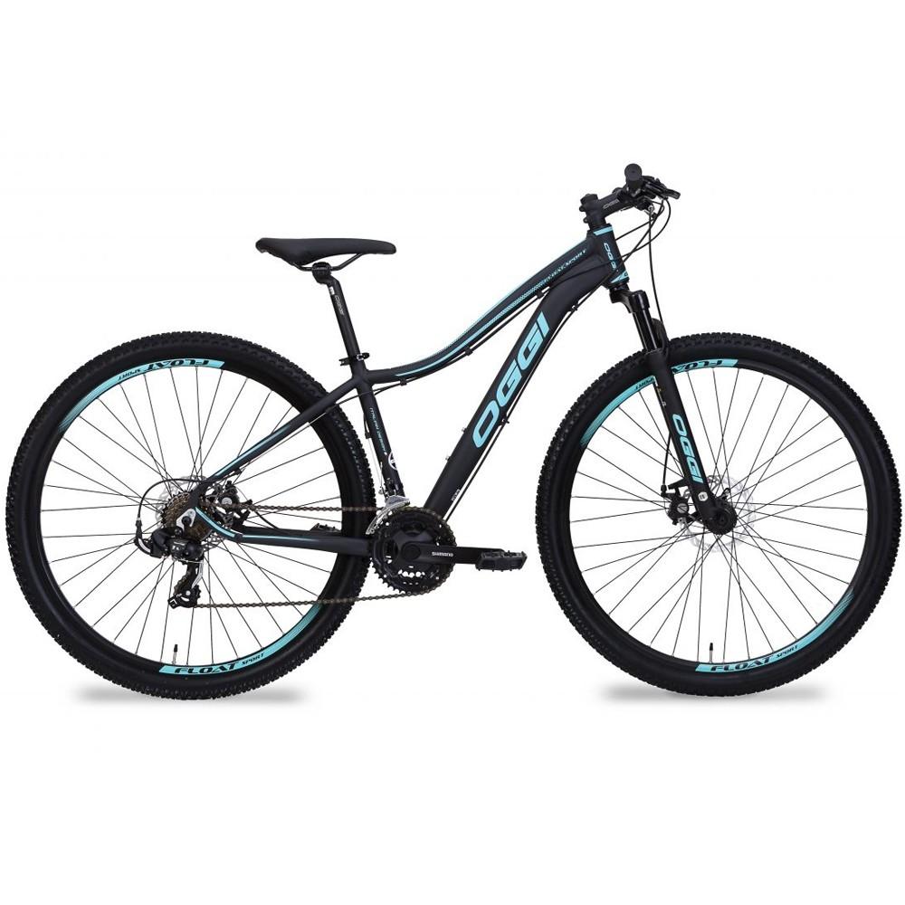 Bike Feminina Oggi Float Sport 21V Preto/Tiffany Tamanho 17