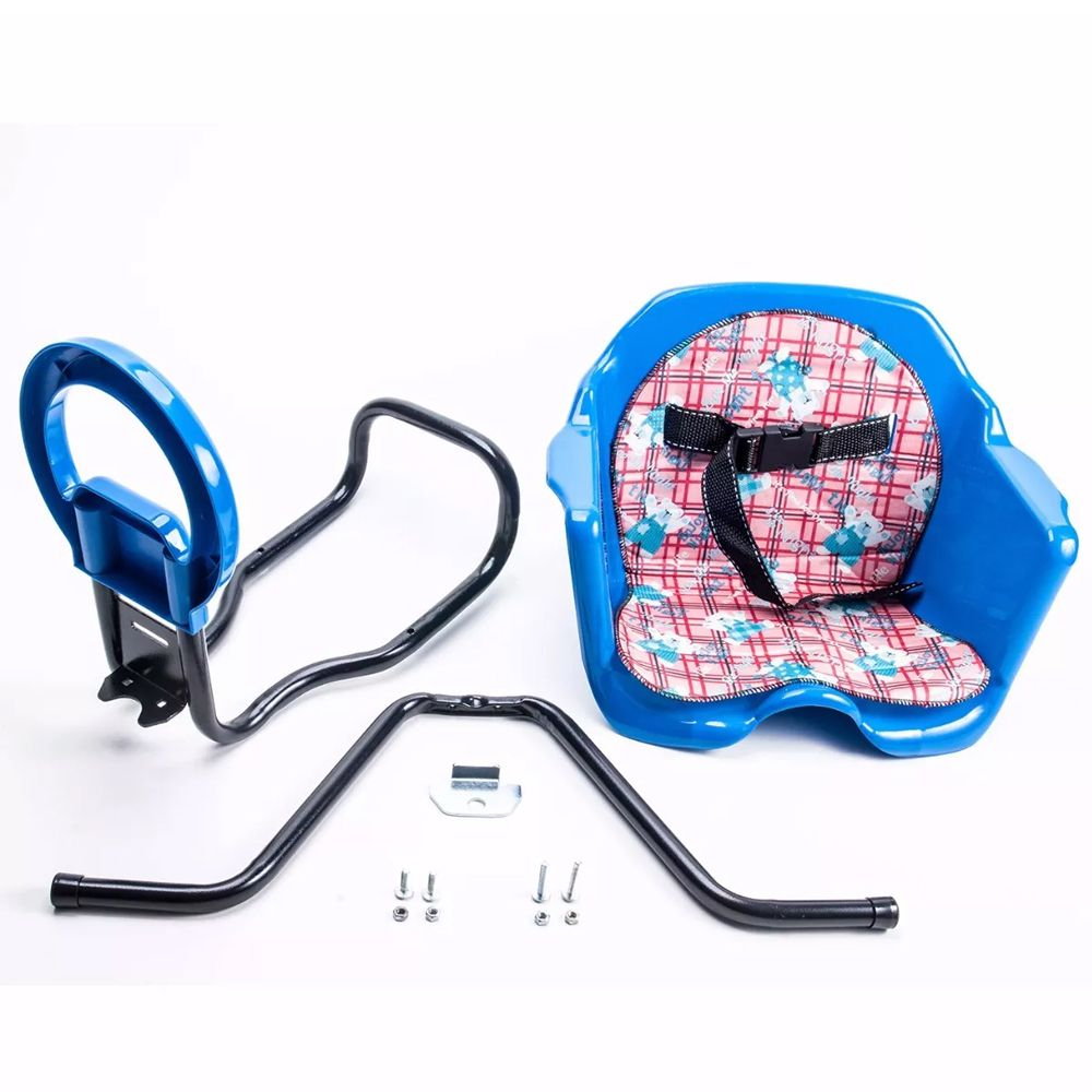 Cadeirinha Bicicleta Pojda Dianteira Luxo Azul