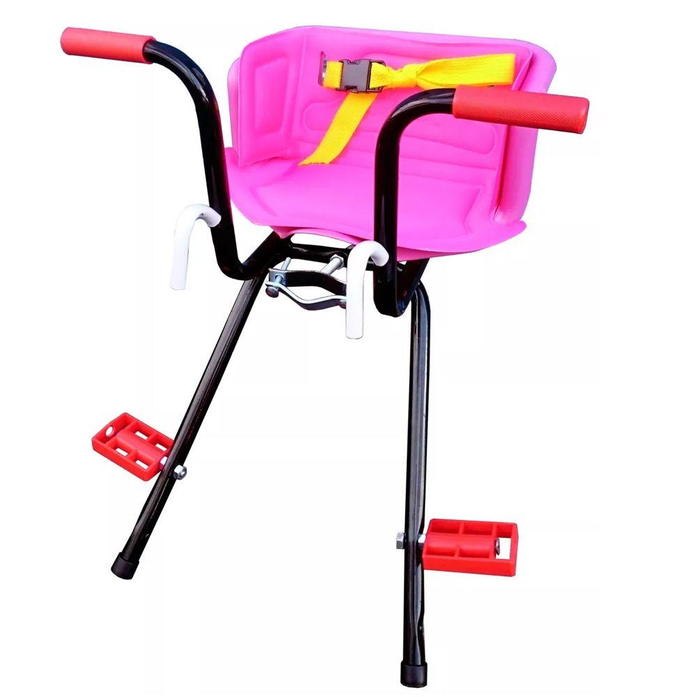 Cadeirinha Dianteira de Bicicleta Peixinho Super Luxo Rosa