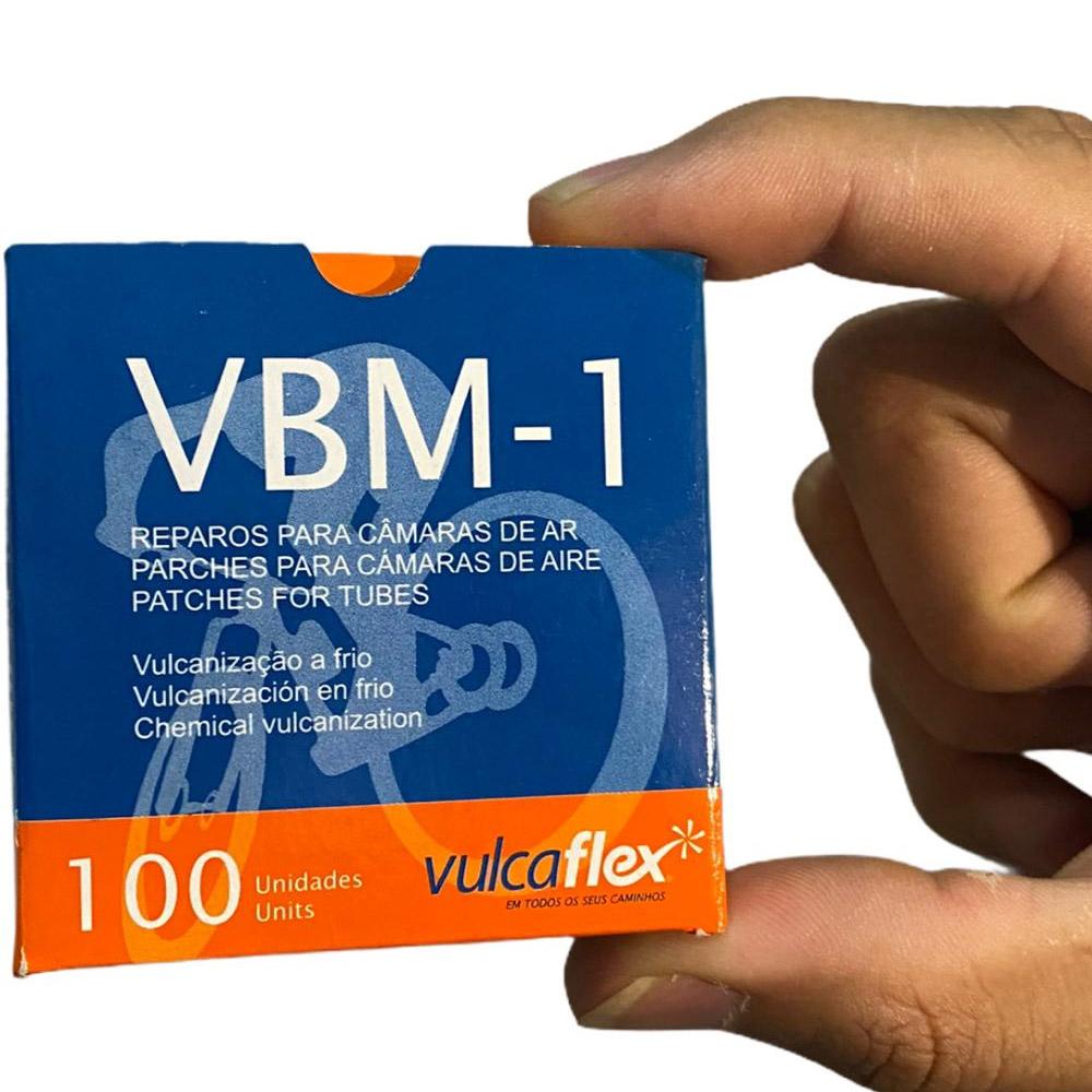 Caixa de Remendo A Frio Camara de Ar VBM-1 Vulcaflex 100 Unidades