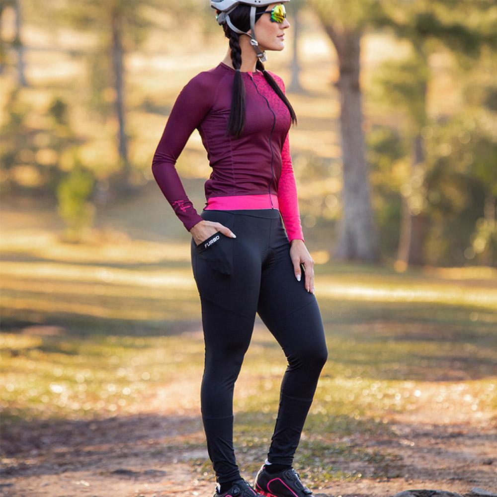 Calça Ciclismo Feminina Furbo Hermana com Bolso HT-90