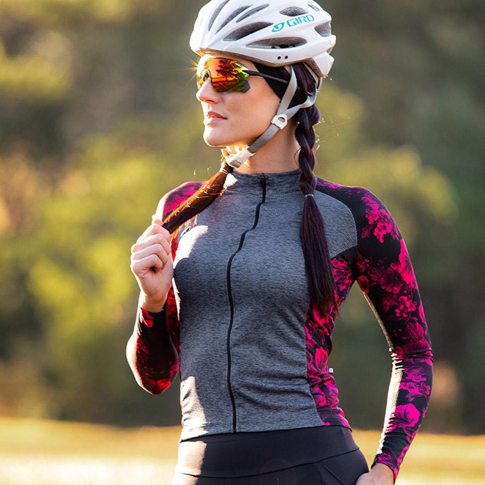 Camisa Ciclismo Feminina Furbo Manga Longa Donna Petunia