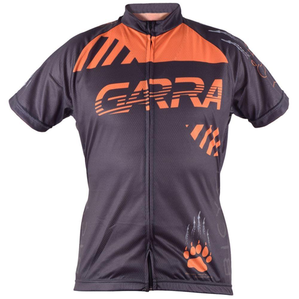 Camisa Ciclismo Garra Bike Tamanho XGG Preto/Laranja