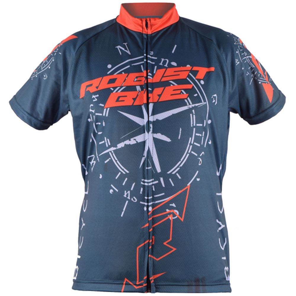 Camisa Ciclismo Robust Bike Tamanho G Cinza e Laranja