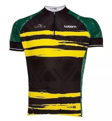 Camiseta Ciclista Woom Essence Africa Tamanho G Preta